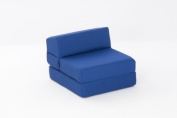 Mia Single Chair Bed in ROYAL BLUE Cotton Drill