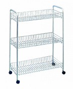 Metaltex 341503039 All-Purpose Trolley 56 x 23 x 84 cm 3 Levels Slim Deluxe Polytherm
