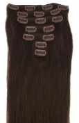 Weanas 46cm 7pcs Straight Remy Real Human Hair Extensions with Clips True 04 Brown 70g for Girl Women Beauty Hair Salon in Fashion