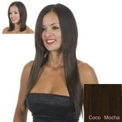 ExceLength Coco Mocha Brunette Straight Clip Hair Extensions | Full Head 10 Clips | 18Inches 45 cm Long | Heat Style-able