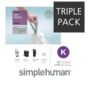 SIMPLEHUMAN 20 BIN LINERS CODE K 38 LITRE - TRIPLE PACK