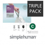 SIMPLEHUMAN 20 BIN LINERS CODE C 10-12 LITRE - TRIPLE PACK