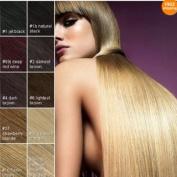 #6613mediumbrownblondemix Hair Extensions 15-18-20-22-60cm 7pcs