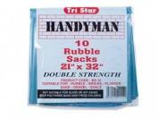 Tristar Heavy-Duty Blue Rubble Sacks (10) 50cm x 80cm TRIBS10