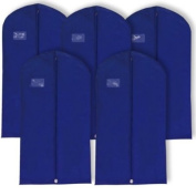 Discounted Pack of 10 x Breathable Navy Garment Clothes Covers Suit Bags - 40""