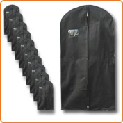 Discounted Pack of 10 x Breathable Black Garment Clothes Covers Bags - 100cm - Suit Size