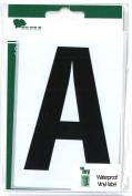 Wheelie Bin Letter Black A