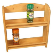 WOOD - Solid Wood 2 Tier Spice Rack - Natural