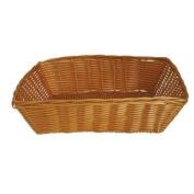 JVL Polyrattan Weaved Dishwasher Safe Basket, Rectangular - 31 x 23 x 8 cm
