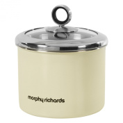 Morphy Richards Accents Small Storage Canister with Glass Lid, Cream