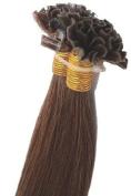 46cm 100grs,100s,Nail (U) Tip Human Hair Extensions #6 Medium Chestnut Brown