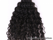 60cm (Inches) 100% Virgin Unprocessed Peruvian Remy Human Hair Extension| Deep Wave| Colour