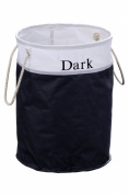 Premier Housewares Laundry Hamper Dark, Black