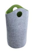 Wenko 3440200100 Large Felt Laundry Bin, 52 x 73 x 32 cm, 59 Litre, Grey/ Green