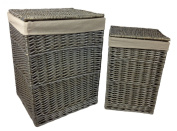 NEW! Quality, Lined Wicker Linen / Laundry Basket, Small