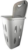 Plastic Laundry Basket - Retangular - Cream