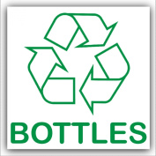 Bottles Recycling Adhesive Sticker-Recycle Logo Sign-Environment Label