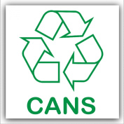 Cans Recycling Adhesive Sticker-Recycle Logo Sign-Environment Label