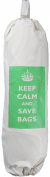 Keep Calm and Save Bags - Carrier Bag Holder - Natural cotton plastic bag storage