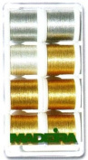 Madeira Heavy Metal 8014 Embroidery Thread Box Assortment With 8 Metallic Spools