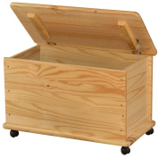 Zeller 13182 Toy Box with Wheels Pine / 73 x 39.5 x 45