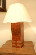 Pottery lamp base with shade - made by sassak people of Lombok