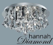 Marco Tielle Hannah Diamond 4 Light Ceiling Chandelier in Chrome Clear