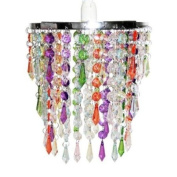 Gypsy chandelier homeware buy online from fishpond modern chandelier pendant shade with multi coloured acrylic droplets aloadofball Gallery