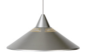 Lucide 16431/30/36 Suspension Light Shade Metal 1 x E27 Diameter 34 cm Silver