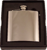 Artamis 180ml Polished Stainless Steel Hip Flask In A Gift Box