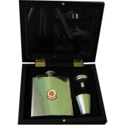 Exeter City ' The Grecians' Football Club 180ml Hip Flask Gift Set