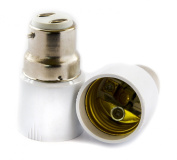 4 x B22 Bayonet to E27 Edison Screw LED/CFL Lamp Welding-Free Adapter Converter, Special Offers Available