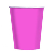 Amscan International 266 ml Paper Cups Bright Pink, Pack of 20