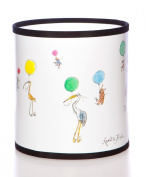 Quentin Blake Table Lampshade featuring illustrations from the 'Up with Birds' book by John Yeoman.