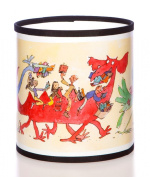 Quentin Blake Table Lampshade featuring 'Monster Readers' illustrations from Quentin's collection.
