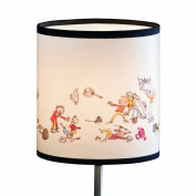 Quentin Blake Table Lampshade featuring the pots and pans illustration from the 'All Join in' book by Quentin Blake.