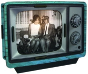 Werkhaus - TV lamp with frame, blue
