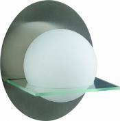 Massive 34111/17/10 Monica (g9) Wall Light - Brushed Chrome & Glass