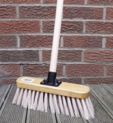 Soft Sweeping Brush, 28cm Cream PVC Broom with Handle Indoor Floor Sweeper