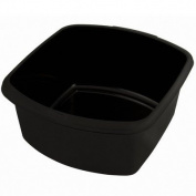 Whitefurze Plastic Small Rectangular Washing Up Kitchen Sink Bowl Black