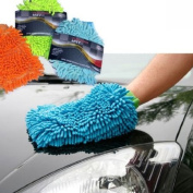 MICROFIBRE CAR WASH WASHING SHAMPOO CLEANING MITT GLOVE POLISHING CLOTH DUSTER