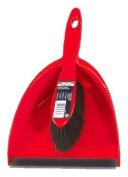 Vileda Dustpan and Brush Set, Red