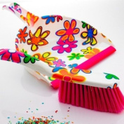 Flower Design Dustpan & Brush. Funky High Quality, Great for any home