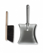 Garden Trading Metal Dustpan and Wooden Brush set
