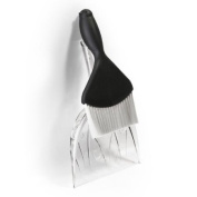 Black Sparrow Sweepie - Dustpan and Brush Set by Qualy