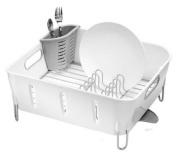 simplehuman Compact Dishrack, White Plastic