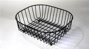 Black Plastic Coated Sink Basket