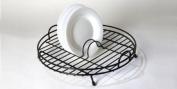 Black Plastic Coated Circular Dish Drainer
