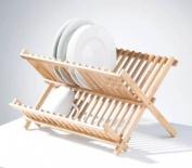 Premier Housewares Bamboo 40 x 32 x 26 cm Folding Dish Rack, Natural