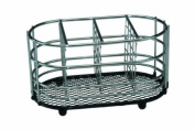 Apollo Dipped in Black Cutlery Caddy, Chrome